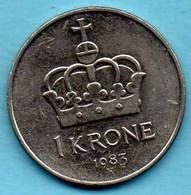 NORWAY / NORVEGE  1 Krone 1983 K  KM#419 - Norvège