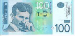 Serbia. Banknote. 100th Dinar. N. Tesla. Coil. UNC. 2013 - Serbia