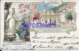 109037 ITALY SAVONA SANCTUARY RELIGIOUS MULTI VIEW BREAK CIRCULATED TO ARGENTINA  POSTAL POSTCARD - Italie