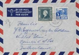 Nederlands Indië - 1949 - Nederlands Gezag - Gekapt Republikeins Stempel KISARAN - Bulterman Type NKb Naar Schweiz - Indes Néerlandaises
