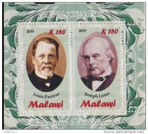Malawi Louis PASTEUR Joseph LISTER Emission Privée - Louis Pasteur