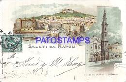 109041 ITALY NAPOLI CAMPANIA MULTI VIEW CIRCULATED TO ARGENTINA  POSTAL POSTCARD - Non Classés