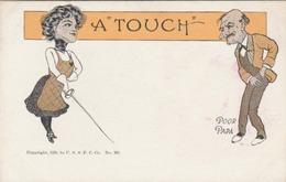 """L'escrime : Carte Humoristique Anglaise - """"A Touch"""" Poor Papa. - Escrime"""