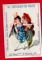 Paris, Au Chevalier De Malte, Lith. Mertens, Couple, La Séparation - Chromo