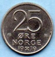 NORWAY / NORVEGE  25 ORE  1979 - Norvège