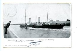 Ostende - La Départ De La Malle Belge / Editeur V.G. (1906) - Oostende