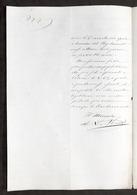 Marina - Chiavari - Autografo Del Ministro Alfonso La Marmora - 1858 - Autographs