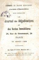 CPA Publicité Le Journal Des Adjudications Et Des Ventes Immobilières - Château De Maulmont Environs De Vichy - Publicité