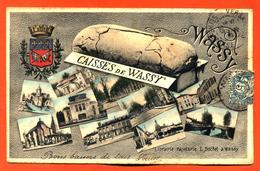 "CPA 52 Wassy "" Caisses De Wassy "" Carte Multivues - Blason Wassy - Wassy"