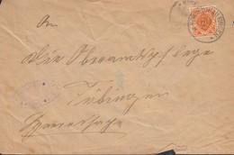 INFLA Württemberg Dienstpost 120 EF Auf Brief Mit Stempel: Neckartailfingen 20.APR 1917 - Wuerttemberg