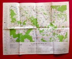 CARTE D'ETAT-MAJOR VILLERS-DEVANT-ORVAL Florenville Mesure 1923-34 MOUZON CARIGNAN STENAY MONTMEDY MARGUT BEAUMONT S464 - Florenville