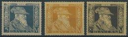 BAYERN 89-91I *, 1911, 5 - 20 M. Luitpold, Type I, Falzrest, 3 Prachtwerte, Mi. 119.- - Bayern