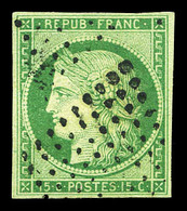 O N°2a, 15c Vert-clair Obl Losange. TTB (signé Calves/Scheller/certificat)  Qualité: O  Cote: 1150 Euros - 1849-1850 Cérès