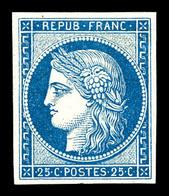 ** N°4d, 25c Bleu, Impression De 1862, Fraîcheur Postale. SUP (certificat)  Qualité: ** - 1849-1850 Cérès