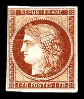 * N°6, 1f Carmin. TTB. R.R. (signé Brun/certificats)  Qualité: *  Cote: 16000 Euros - 1849-1850 Cérès