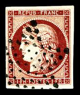 O N°6, 1f Carmin Oblitéré étoile Legère, Jolie Pièce. SUP (signé Calves/certificat)  Qualité: O  Cote: 1000 Euros - 1849-1850 Cérès