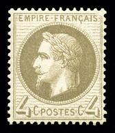 ** N°27Ba, 4c Gris-foncé, Fraîcheur Postale, Bon Centrage. SUP (certificat)  Qualité: ** - 1863-1870 Napoleon III With Laurels