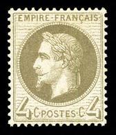 * N°27Ba, 4c Gris-foncé, Quasi **, Fraîcheur Postale, Très Bon Centrage. SUP (certificat)  Qualité: * - 1863-1870 Napoleon III With Laurels