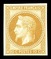 ** N°28Aa, 10c Bistre Impression De Rothschild, Fraîcheur Postale. SUP (certificat)  Qualité: ** - 1863-1870 Napoleon III With Laurels