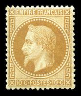 * N°28B, 10c Bistre Type II, Très Bon Centrage. TTB  Qualité: *  Cote: 400 Euros - 1863-1870 Napoleon III With Laurels
