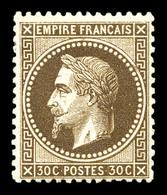 * N°30, 30c Brun, Très Frais. SUP (signé Brun/certificat)  Qualité: *  Cote: 1200 Euros - 1863-1870 Napoleon III With Laurels