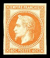 ** N°31c, Rothschild, 40c Non Dentelé. SUP (certificat)  Qualité: ** - 1863-1870 Napoleon III With Laurels