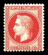 * N°32, 80c Rose, Charnière Légère. TB (signé Brun/certificat)  Qualité: *  Cote: 1750 Euros - 1863-1870 Napoleon III With Laurels