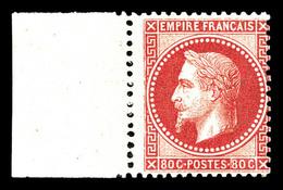 * N°32, 80c Rose, Bord De Feuille Latéral. SUP (signé Gilbert/Margues/certificat)  Qualité: *  Cote: 1750 Euros - 1863-1870 Napoleon III With Laurels