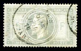O N°33A, 5F Violet-gris Avec 5 Et F En Bleu, Aminci Mais Belle Présentation.  Qualité: O  Cote: 1300 Euros - 1863-1870 Napoleon III With Laurels