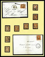 O Collection Composée De 8 Ex Obl Du 10c Bistre (dont 2 Ex Sur Lettre), 15 Ex Du 20c Bleu (dont 5 Lettres Et Variétés),  - 1870 Siege Of Paris