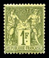 ** N°72, 1f Bronze Type I. TTB (signé Calves/certificat)  Qualité: ** - 1876-1878 Sage (Type I)