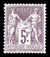 ** N°95, 5f Violet Sur Lilas, Bon Centrage, Fraîcheur Postale. SUP (signé Calves/certificat)  Qualité: ** - 1876-1878 Sage (Type I)