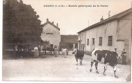 CPA 77 CUGNY ENTREE PRINCIPALE DE LA FERME RARE BELLE CARTE !! - France