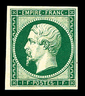 (*) N°18, 1F Vert, Impression Recto-verso, SUP (certificat)  Qualité: (*)  Cote: 1200 Euros - France