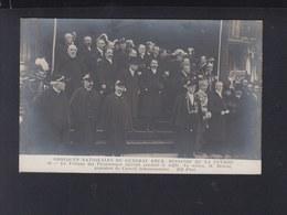 France CP Obseques Du General Brun Tribune  1911 - Personnages