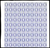 (*) N°30, 30c Violet: Essai En Panneau De 90 Exemplaires Bdf, Fraîcheur Postale. R.R. SUPERBE (certificat)  Qualité: (*) - France