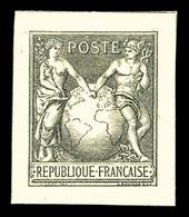 (*) Sage Type I Avec Globe, épreuve En Noir Sur Crême. TTB. R.R. (certificat)  Qualité: (*) - France