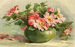 "Catharina KLEIN - Illustrateur - "" Fleurs Dans Un Vase "" - N°1029 - Klein, Catharina"