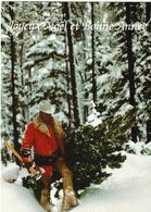 Joyeux Noël Et Bonne Année  Sous La Neige ( Bûcheron - Nouvel An