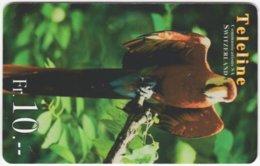 SWITZERLAND C-478 Prepaid Teleline - Animal, Bird, Parrot - Used - Suisse