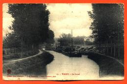 """CPA 52 Wassy """" Le Canal """" Péniches - Wassy"""
