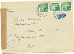 AB Bizone Brief Mef MI.80 + Notopfer Berlin, Berchtesgaden 1950 N. Wien + Zensur Österreichische Zensurstelle - Bizone