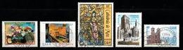 France 2002 : Timbres Yvert & Tellier N° 3495 - 3497 - 3498 - 3499 Et 3506 Avec Oblitérations Rondes. - France