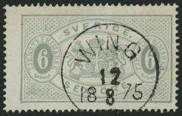 DIENSTMARKEN D 4Ac O, 1874, 6 Ö. Grau, Gezähnt 14, Zentrischer K1 WING, Punkthelle Stelle Sonst Pracht, Mi. 190.- - Dienstpost