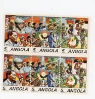 Angola-1986-Mouvement Populaire De Libération-4xbande De 3***MNH - Angola