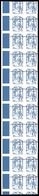 ** N°115, Europe 20g TVP Bleu Ciappa, Piquage à Cheval Sur 2 Bandes De 11 Exemplaires Sans Prédecoupes Latérales Bdf. SU - Errors & Oddities