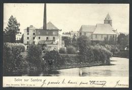+++ CPA - SOLRE SUR SAMBRE - Eglise Et Moulin - Nels  Série 10 N° 15   // - Erquelinnes