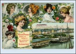 A7345/ Bremerhaven Schöne AK Frauen 1913 - Allemagne