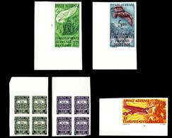 ** Taxe, N°19/28, Série De 1948 En Blocs De 4 Cdf (N°28, 1ex Pd) + PA 18 à 20 Non Dentelé Cdf, TB  Qualité: **  Cote: 43 - India (1892-1954)