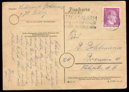 P0811 - DR Postkarte Mit PLZ 8 Stempel: Gebraucht Mit Werbestempel 8 Görlitz - Bremen 29.1.1945 , Bedarfserhaltung. - Deutschland